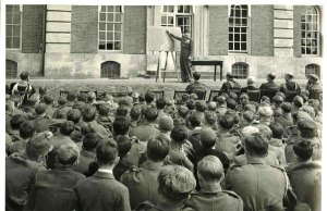 A photograph of Radley Viscount Montgomery of Alamein addresses Radley JTC, 1947.