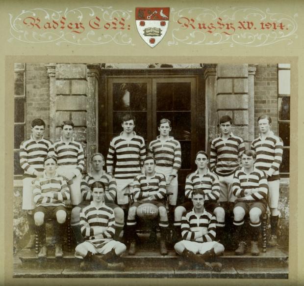 Radley's first rugby XV, 1914