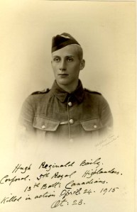 Hugh Baily, Corporal, Royal Highlanders of Canada. KIA 24 April 1915