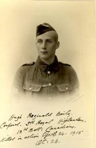 Hugh Baily, Corporal, Royal Highlanders of Canada. KIA 24 April 1915