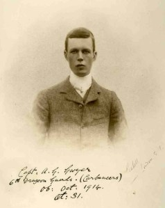 Alexander Gwyer, Captain, 6th Dragoon Guards. kia First Battle of Messines, 22 October 1914