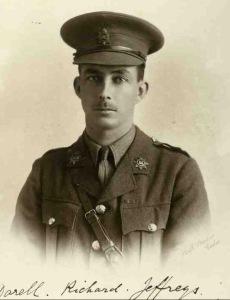 Darell Jeffreys, Captain, 1st Bn Devonshire Regt.  kia 11 July 1915
