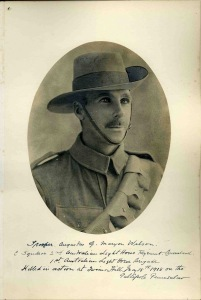 Augustus Maryon-Wilson, Trooper, 2nd Australian Light Horse, Australian Imperial Force.  kia Gallipoli, 14 May 1915