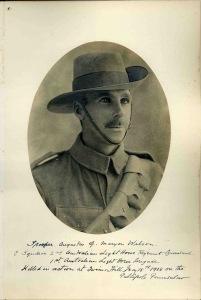 Augustus Maryon-Wilson, Trooper, 2nd Australian Light Horse, Australian Imperial Force.  kia Gallipoli, 14 May 1915