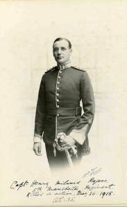 Henry Rogers, Captain, 5th bn, Manchester Regt.  Died of wounds, 26 May 1915