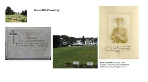 Basil Constable's grave at Green Hill Cemetery