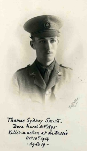 Thomas Smith, 2nd Lt, 1st Bn, Dorsetshire Regt. kia La Bassee, 16 October 1914