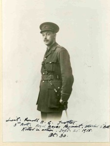 Ronald Trotter, Lt, Royal Berkshire Regt.  kia 25 September 1915