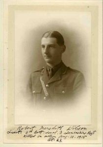 Robert Wilson, Lt, 6th Bn, Loyal North Lancashire Regt.  Missing 10 August 1915