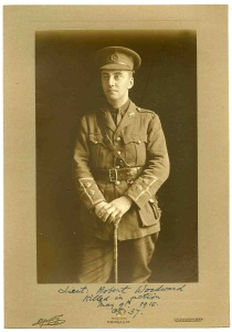 Lt Robert Woodward, South Wales Borderers. kia 9 May 1915