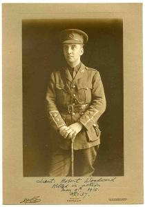 Lt Robert Woodward, South Wales Borderers. kia 9 May 1915