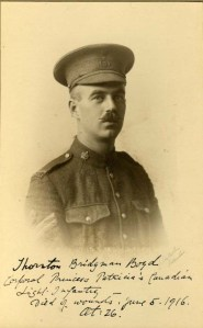 Thornton Boyd, Corporal, Princess Patricia's Canadian LI, Canadian Expeditionary Force.  Died of wounds 5 June 1916