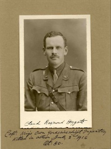 Claud Heygate, Captain, 10th bn Yorkshire LI.  kia 2 July 1916
