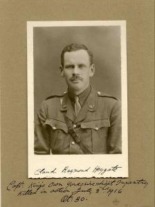 Claud Heygate, Captain, 10th bn Yorkshire LI.  kia 2 July 1916