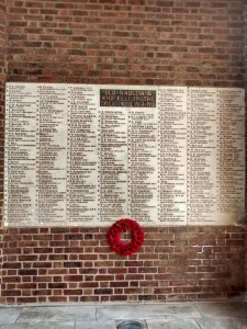 The WW1 memorial at Radley College