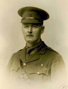 Alfred Benson, Major, RAMC. Killed in the bombing of Scarborough