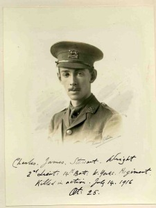 Charles Wright, Captain, 7th Bn, Leicestershire Regt. kia Bazentin-le-Petit, Battle of the Somme