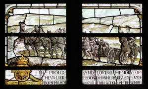 Detail of Charles Henderson's memorial window in Radley College Chapel. Photographed by Roger Shaw