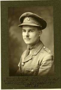 Ian Ross-Taylor. 2nd Lt, 7th Bn, Bedfordshire Regt. kia Battle of the Somme