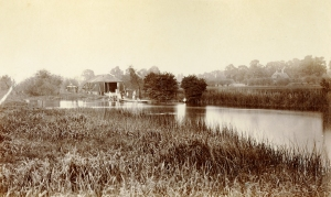 Henry Taunt. Radley's first boathouse on the River Thames, c1890