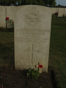 The grave of James Freeman at Lijssenthoek.  Photographed for 'Marching in Memory' for Combat Stress, July 2015