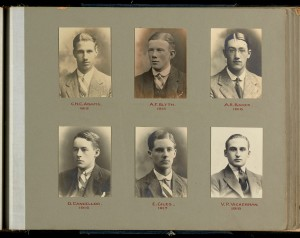 Radley College Senior Prefects, 1915-1918: Adams, Blyth and Cancellor all died in WW1