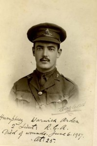 2nd Lt Humphrey Arden, Royal Garrison Artillery. Died 6th June 1917