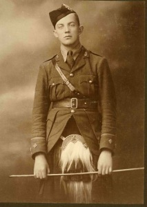 Captain Charles MacDowell, Black Watch. Died of wounds received in the Battle of Arras, 28th April 1917