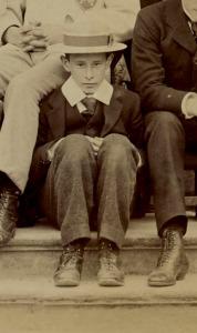 John Partington as a new boy, B Social, 1898
