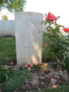 The grave of Lewis Sheppard at Varennes. Photographed for Marching in Memory, July 2015
