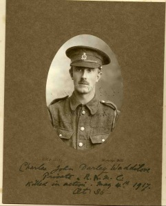 Private Charles Waddilove, Stretcher bearer, RAMC. kia Battle of Arras