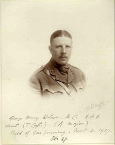 Major George Wilson, Royal Field Artillery. Died of gas poisoning, Passchendaele