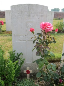 George Wilson's grave at Gwalia. Photographed for Marching in Memory, July 2015