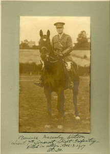 Lt Dominic Watson, Somerset LI