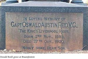 The grave of Oswald Reid at Braamfontein Cemetery, Johannesburg